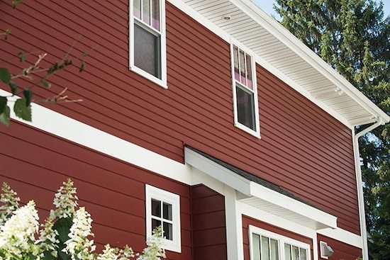 metal siding on home