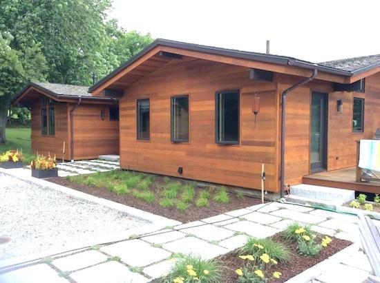 wood siding on home